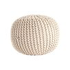Saro Cotton Twisted Rope Pouf Ottoman