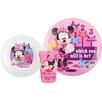 Zak! Minnie Mouse 3 Piece Dinnerware Set