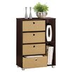 "<strong>23.6"" Multipurpose Storage Shelf Cabinet Dresser</strong> by Furinno"