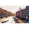 """Trademark Global """"Canal of Venice"""" by Hava Painting Print on Canvas"""