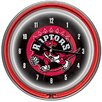 "<strong>Trademark Global</strong> 14.5"" NBA Double Ring Neon Wall Clock"