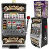 Trademark Global Crazy Diamonds Slot Machine Bank with 100 Tokens