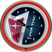 "<strong>Trademark Global</strong> Pontiac 14.5"" Double Ring Neon Wall Clock"