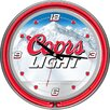 "Trademark Global 14.5"" Coors Light  Neon Wall Clock"