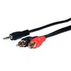 """<strong>Standard Series 72"""" Stereo Mini Plug to 2 RCA Plugs Audio Cable</strong> by Comprehensive"""