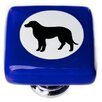 "<strong>New Vintage 1.25"" Cameo Lab Dog Square Knob</strong> by Sietto"