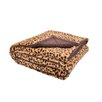 <strong>Plush Cheetah Print and Sherpa Microfiber Throw</strong> by Sleeping Partners 2