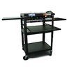 Buhl Height Adjustable AV Media Cart with Three Stationary Shelves
