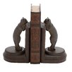 <strong>Woodland Imports</strong> Polystone Leaning Cat Book Ends (Set of 2)