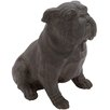 <strong>Woodland Imports</strong> Polystone Sitting Bulldog Garden Statue