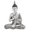 <strong>Polystone Sitting Buddha Figurine</strong> by Woodland Imports