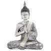 Woodland Imports Polystone Sitting Buddha Figurine