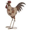 Woodland Imports Metal Crafted Rocking Rooster Statue