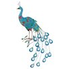 <strong>Metal Crafted Peacock Décor Statue</strong> by Woodland Imports