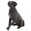 Woodland Imports Polystone Sitting Dog Statue