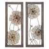 <strong>Woodland Imports</strong> 2 Piece Victorian-Themed Assorted Floral Wall Décor Set