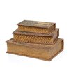 <strong>Woodland Imports</strong> Library Wood Storage Book (Set of 3)