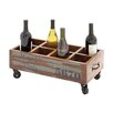 <strong>Woodland Imports</strong> The Joyful 8 Bottle Tabletop Wine Trolley