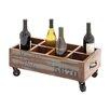 Woodland Imports The Joyful 8 Bottle Tabletop Wine Trolley