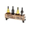 Woodland Imports The Jolly 8 Bottle Tabletop Wine Trolley