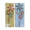Woodland Imports Lovely 2 Piece Floral Themed Wall Décor Set