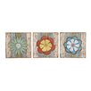 <strong>Woodland Imports</strong> Lovely and Lively 3 Piece Wood Metal Wall Décor Set