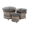 <strong>Woodland Imports</strong> The Baffling 3 Piece Round Pot Planter Set