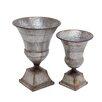 Woodland Imports The Nostalgic 2 Piece Metal Urn Set
