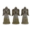 <strong>Woodland Imports</strong> Holy Polystone Garden Angel Statue (Set of 3)