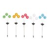<strong>Woodland Imports</strong> The Delightful Metal Solar Garden Stake (Set of 5)