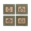 <strong>Woodland Imports</strong> The Modern 4 Piece Wood Burlap Wall Décor Set