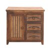 Woodland Imports The Cool Wood 3 Drawer Cabinet