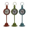 Woodland Imports The Statuesque Metal Table Clock (Set of 3)