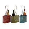 Woodland Imports The Lovely Metal Wine Basket (Set of 3)