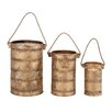 <strong>Woodland Imports</strong> 3 Piece Contemporary Styled Metal Lantern Set