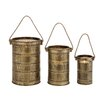 <strong>Woodland Imports</strong> Antique 3 Piece Metal Lantern Set