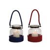 Woodland Imports The Simple Glass Lantern (Set of 2)