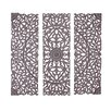 Woodland Imports 3 Piece The Must Have Wood Carved Panel Wall Décor Set