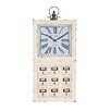 Woodland Imports Attractive Wood Metal Wall Clock
