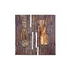 Woodland Imports Hidden Wood Metal Canvas in Brown