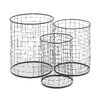 Woodland Imports 3 Piece Handy Metal Container Basket Set