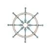 Woodland Imports Smart Wood Ship Wheel Wall Décor