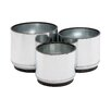 Woodland Imports 3 Piece Round Box Planter Set