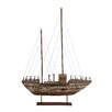 Woodland Imports Wonderful Wood Metal Model Boat
