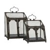 <strong>Woodland Imports</strong> 2 Piece Attractive Terrarium Planter Set