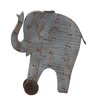 <strong>Woodland Imports</strong> Artistic Styled Exclusive Wood Painted Elephant Statue