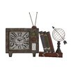 Woodland Imports Attractive Metal Table Clock