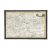 <strong>Woodland Imports</strong> The Ultra Cool Wood Glass Map Wall Décor