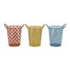 Woodland Imports Fun Metal Basket Set (Set of 3)