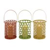 <strong>Woodland Imports</strong> 3 Piece Metal Lantern Set